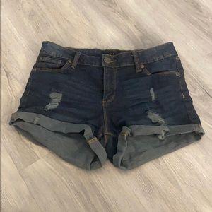 Bluenotes dark denim jean shorts size 26